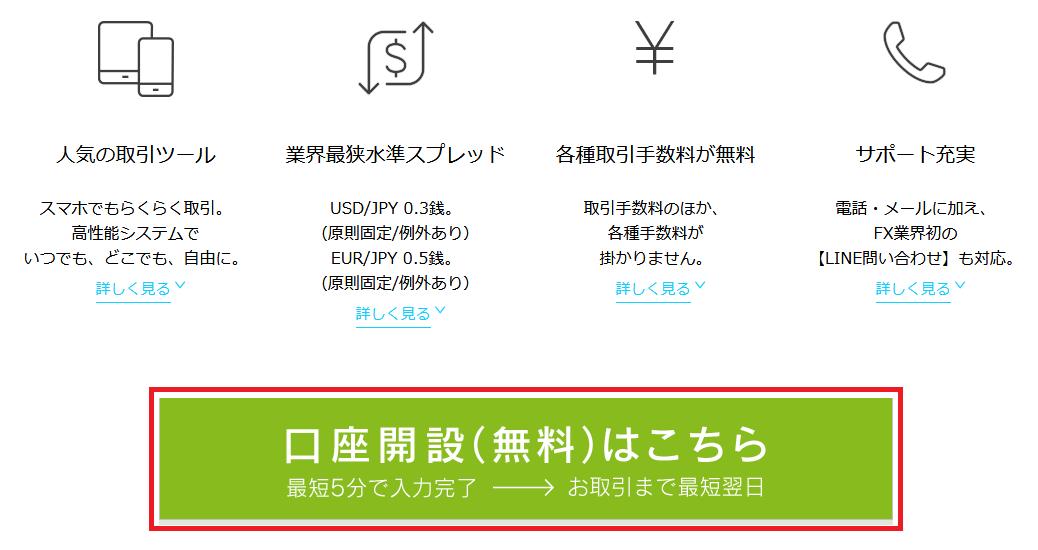 DMMFX申込フォームリンク
