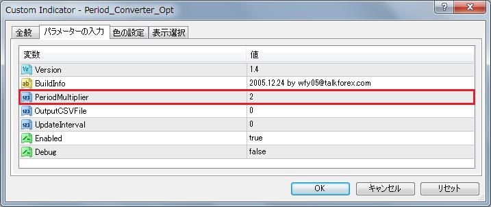 MT4(「Period_Converter_Opt」設定画面②)